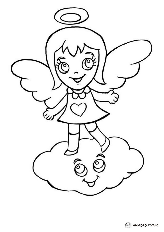 Раскраска ангел бэби мультфильм
