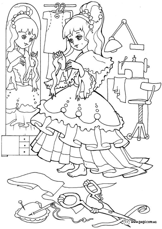 Раскраски на а4 для девочек скачать