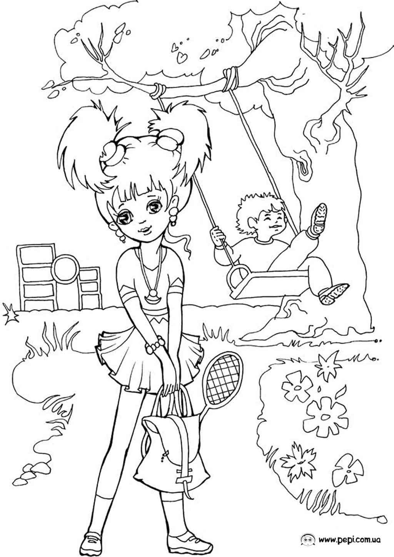 раскраски для девочек рисовать бесплатно