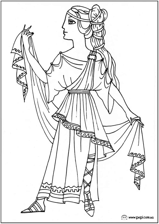 Раскраска греции для детей