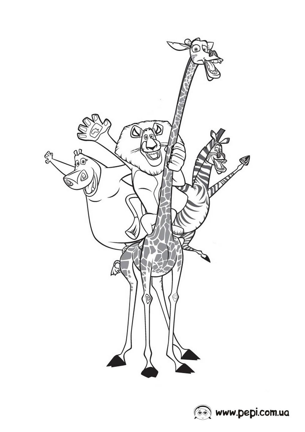 Madagascar 3 coloring page - a-k-b info