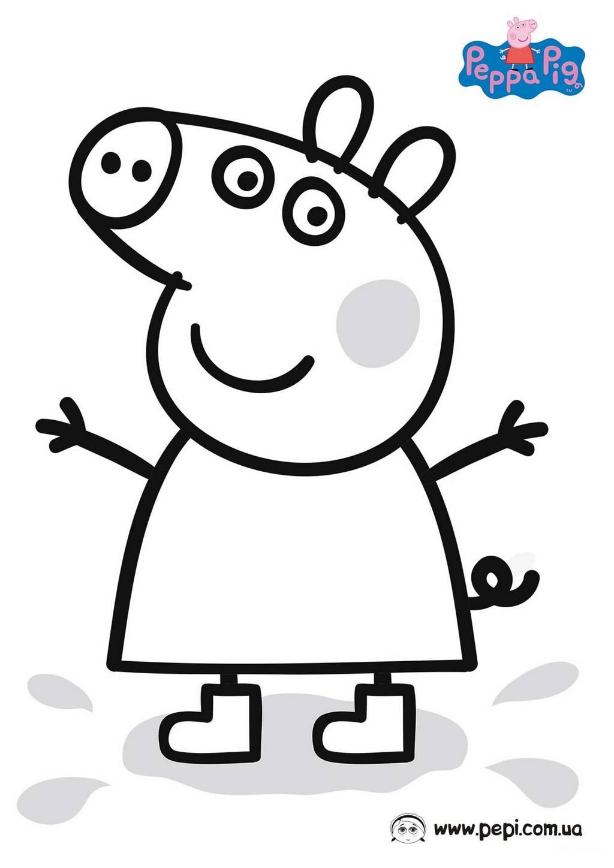 Раскраска свинки пеппы - 3