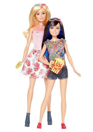 Розмальовка лялька Барбі