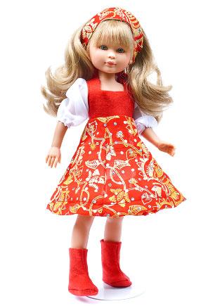 Розмальовка ляльки в нарядах