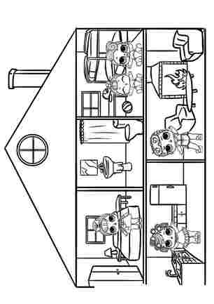Розмальовка Ляльковий будиночок ЛОЛ