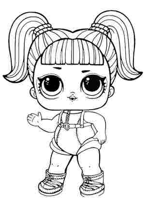 Розмальовка ЛОЛ лялечка гламурний астронавт