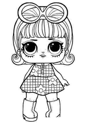 Розмальовка ЛОЛ лялечка мілашка
