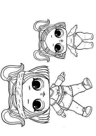 Розмальовка ЛОЛ конфетті поп сестричкі