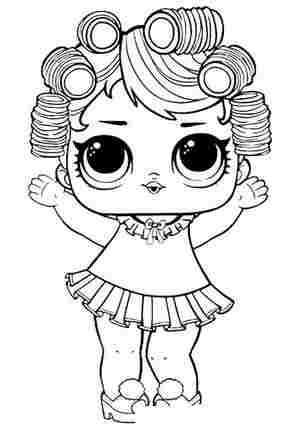 Розмальовка ЛОЛ старша сестричка Лялечка