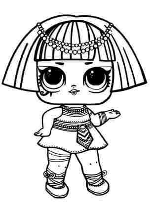 Розмальовка ЛОЛ старша сестричка Фараон