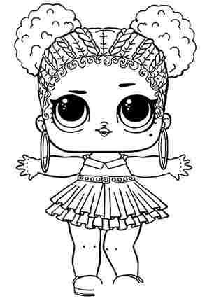 Розмальовка ЛОЛ Фіолетова королева