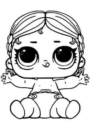 Розмальовка ЛОЛ молодша сестричка Танцівщиця