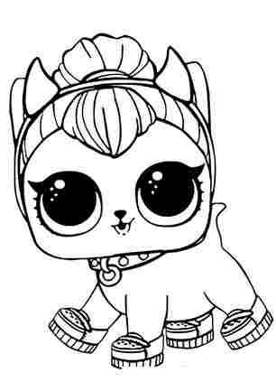 Розмальовка ЛОЛ вихованець кошеня Перчинка
