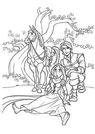 Рапунцель Флін і кінь Максимус