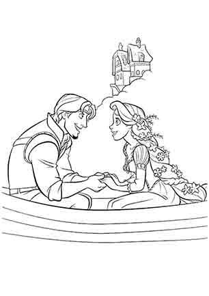 Рапунцель і Флін на човні