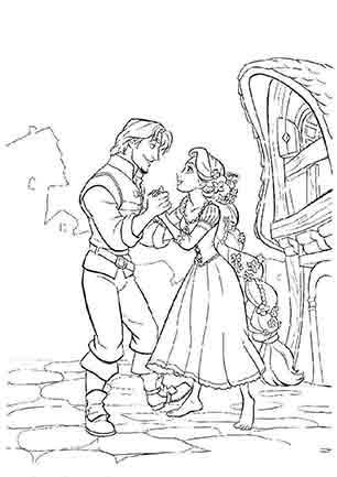 Рапунцель і Флін танцюють