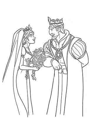 Рапунцель з батьком Королем
