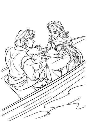 Флін і Рапунцель у човні