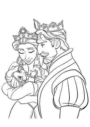 Маленька Рапунцель з батьками