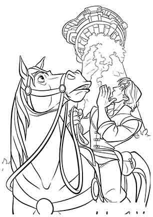 Флін верхи на коні Максимус