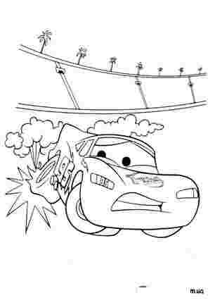 У Тачки пробило колесо