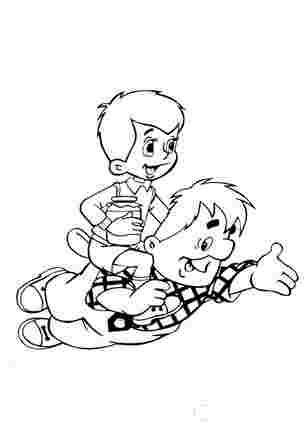 Карлсон катає малюка