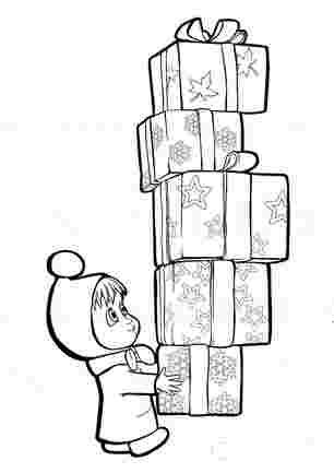 Маша несе коробки з подарунками