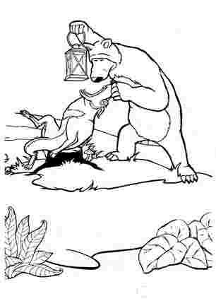 Медвідь зрозумів що вовк не справжній