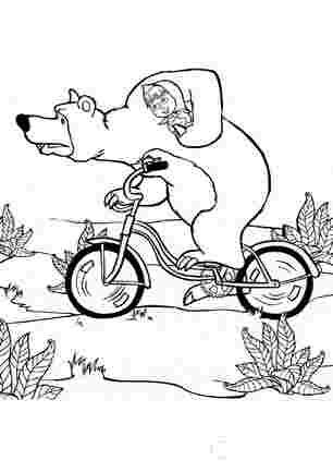Маша і медвідь на велосипеді