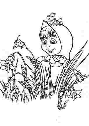 Маша виглядає із квіткових зарослів