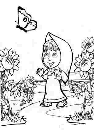 Маша хотіла спіймати метелика