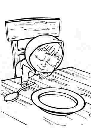 Маша заснула прямо за столом