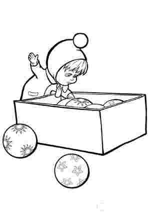 Маша з коробкою ялинкових іграшок