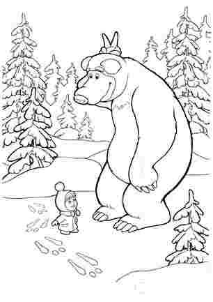 Маша і медвідь знайшли сліди