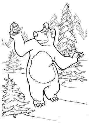 Маша на руках у медведя