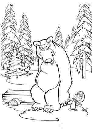 Маша тягне медведя за собою