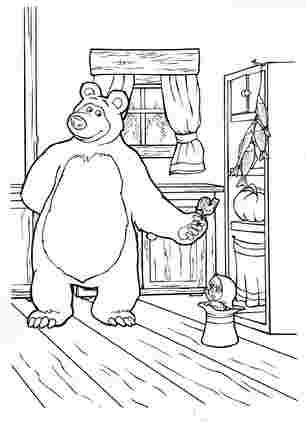 Маша і медвідь з цукеркою