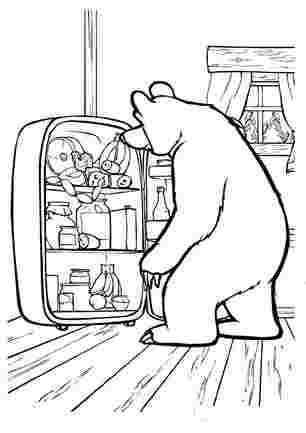 Що ведміть шукає в холодильнику?