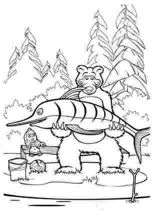Медвідь піймав велику рибу
