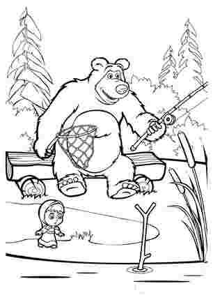 Маша і медвідь на рибалці