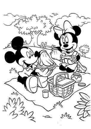 Мікі і Міні на пікніку