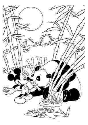 Мікі Маус зустрічає панду