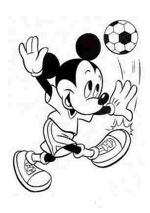 Мікі Маус вдарив по мячу
