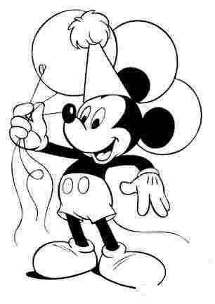 Мікі Маус з повітряними шарами