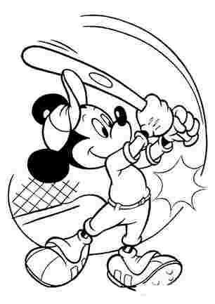 Мікі Маус з бейсбольною битою