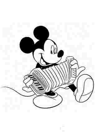 Мікі Маус грає на акордіоні