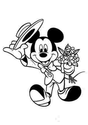 Мікі Маус - джентельмен з квітами