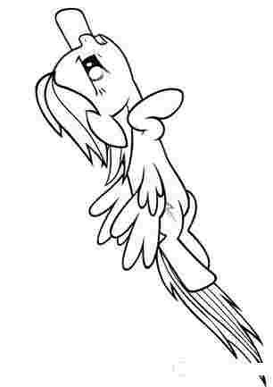 Поні Радуга летить
