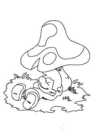 Смурфік під грибом