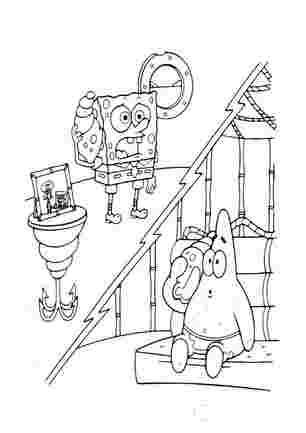 Губка Боб і Патрік слухають ракушки